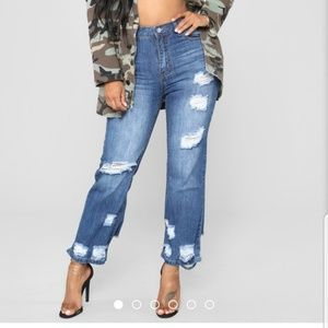 Fashion Nova Down to it Boyfriend Jeans